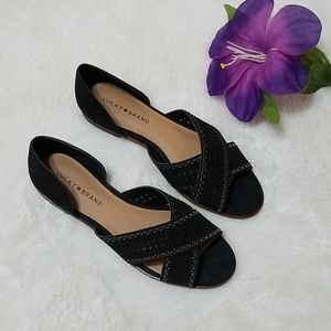 Lucky Brand Black Open Toe Sandals Size 10M
